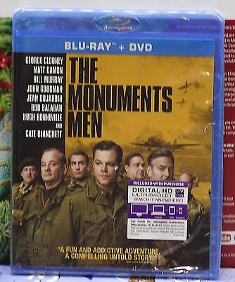 Brand New Monuments Men On Blu-Ray+Dvd+Digital Hd!  No Slipcover! Factory Sealed