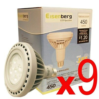 (Lot of 9) Neck PAR30 10 Watt Flood or Spot LED Light Bulb 45W Replacement New