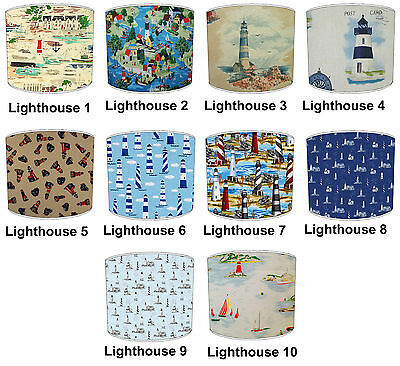 Nautical Lampshades Ideal To Match Nautical Lighthouse Cushions & Sailing Duvets