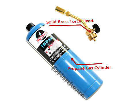 Propane Gas Blow Torch Kit Manual Ignition Solid Brass Torch Head