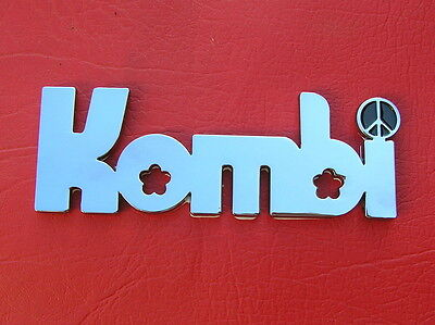 KOMBI CAR BADGE Chrome Metal Emblem NEW & UNIQUE Suit VW Volkswagen Volkswagon