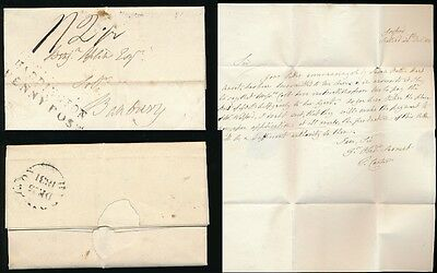 Scotland 1831 Haddington Penny Post Christmas Day