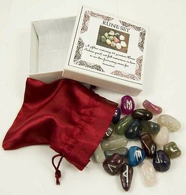 Rune Stones Mixed Stones Witches Oracle Spell Stones info leaflet pouch box