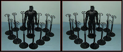 FREE U.S. SHIPPING 2 dozen 24 BLACK Kaiser Doll Stands For KEN  & Action Figures