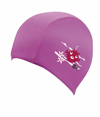 BECO Sealife Junior Polyester Fabric Childrens Swimming Cap - Pink