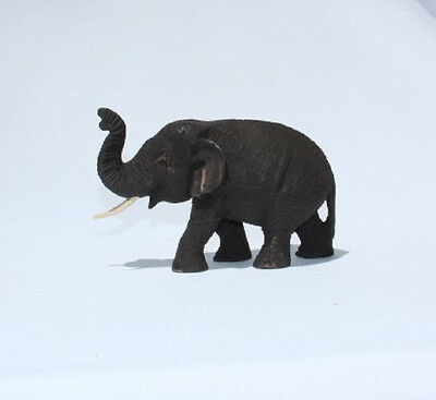 Fair Trade Hand Carved Thai Wooden Elephant Brand New 24cm Size