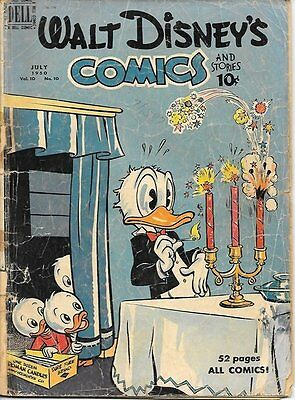 Walt Disney's Comics and Stories Comic Book #118, Dell Comics 1950 GOOD