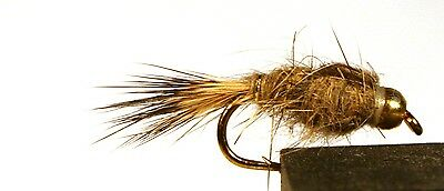 ICE FLIES. Nymph. Hares Ear BH. Pick a size (4-pack). Available in size 8 - 14