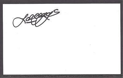 A 13cm x 7.5cm Plain White Card Signed by John Craggs played Newcastle United.