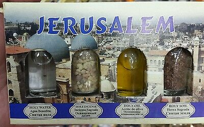 4 holy elements Blessed Holy water Jordan river Holy soil anointing oil incense