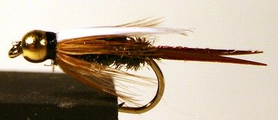 ICE FLIES. Nymph. Prince, BH.  Pick a size (4-pack). Available in size 8 - 14