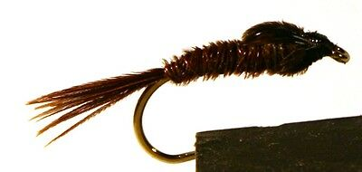 ICE FLIES. Pheasant tail Sawyer .  (4-pack). Available in size 8 - 14