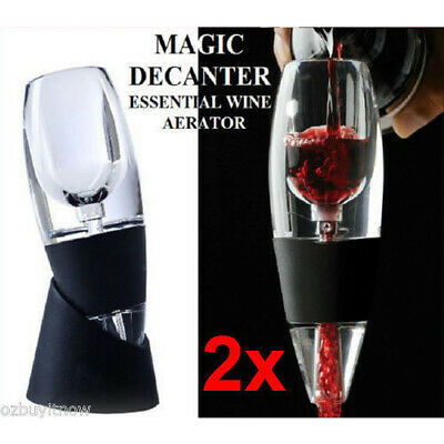 2x Magic Decanter Essential Wine Aerator and Sediment Filter w/ Gift Box