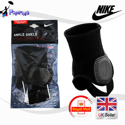 New Genuine Nike Ankle Shields SP0236-030 Ankle Guards ONE SIZE Adult Black