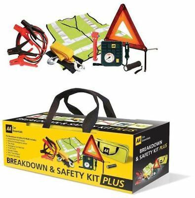 AA Car Essentials Emergency Breakdown and Travel Safety Kit Plus