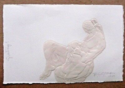 "RC Gorman -Cast Paper ""Infant Nursing""  Artist Signed & dated 1984"