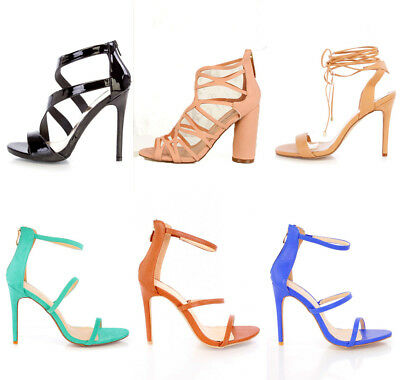 8935d80ab1 Lot Womens Strappy Single Sole Heels Faux Suede Leather Wrap Around Tie  Shoes