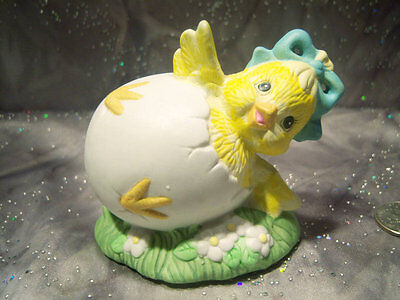 Enesco Easter Chick Figurine Hatching Egg Ceramic
