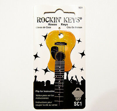 Acoustic Guitar House Key Blank SC1 Schlage