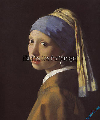 Vermeer 01 Artist Painting Reproduction Handmade Oil Canvas Repro Wall Art Deco