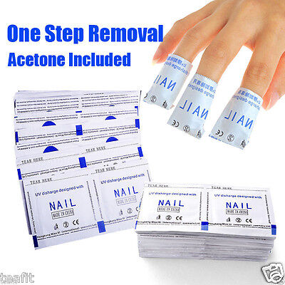 Gel Nail Polish Removers Removal Wraps Acetone Pads Foil Art Cleaner 100 200 Pcs