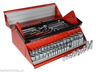 Teng Tools Mega Rosso Tool Kit Barn Door Toolbox With Sockets Ratchets Adaptor