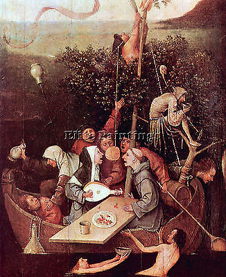 The Ship Of Fools By Bosch Artist Painting Handmade Oil Canvas Repro Art Deco