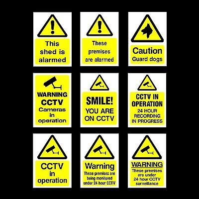 CCTV Security Camera Plastic Sign, Sticker - All Materials & Sizes - Your Design