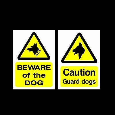 Beware of the dog/Guard Dogs Plastic Sign, Sticker - All Materials & Sizes
