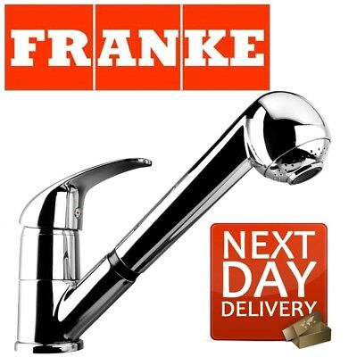 Franke Modern Chrome Pull Out Spray Mixer Tap Kitchen Sink Single Lever Swivel