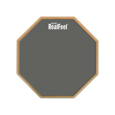 "New Reel feel by Evans 12"" Speed Practice Pad - Drum Tuition Practice FREE P&P"