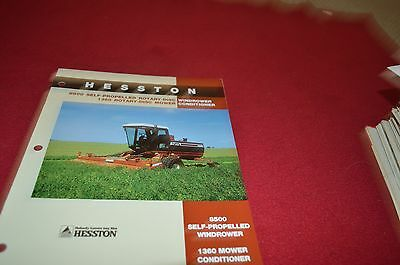 HESSTON 8200 SELF-PROPELLED Windrower Brochure From 1980s? 4