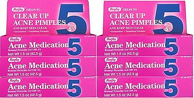 Benzoyl Peroxide 5 %  Generic for Oxy Balance Acne Medication Gel  1.5 oz 6 PACK