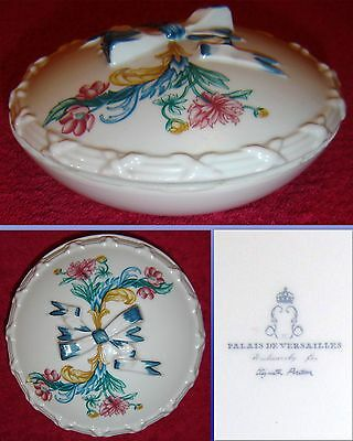FRENCH PARIS PORCELAIN ELIZABETH ARDEN LIDDED POWDER POT & AND LIDDED POT