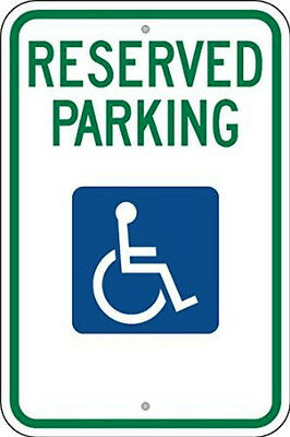 "Reserved Parking Handicap Sign 12""x18""--No Arrows"
