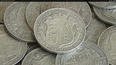 1920 - 1944 George V Silver Half Crown Coin Choose The Year/date Fast Delivery