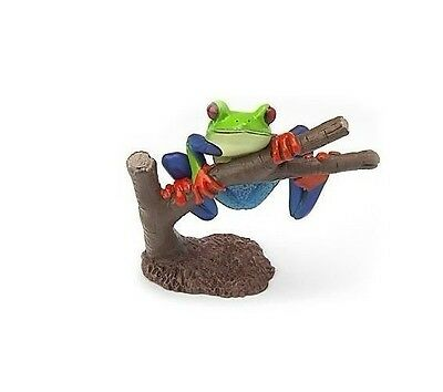 Japan Colorata animal Red Eyed Tree Frog Toad Frogs PVC Figurine