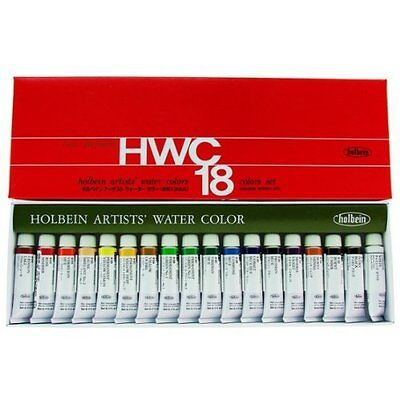 Holbein Artists?f Transparent Watercolor 18 Colors Set #2 Tube (5ml) from Japan