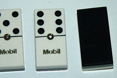 VINTAGE MOBILGAS MOBIL OIL GAS STATION Domino Dominoes GAME a5