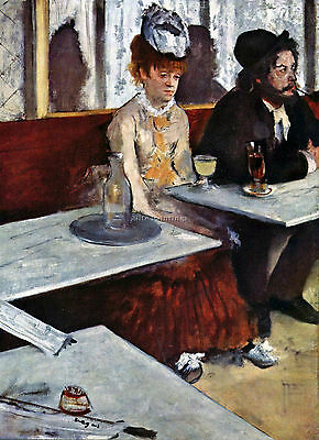 Absinthe By Degas Artist Painting Reproduction Handmade Canvas Repro Art Deco