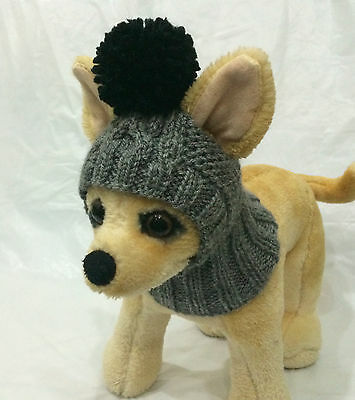 Pet Clothes Apparel Outfit Handmade Knit Hoody Snow-Hat for Small Dog