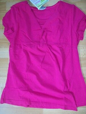 Fresh Mums Maternity Twisted Tee Pink Size 20 New