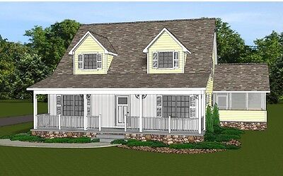2-Story Home House Plan 2021 SF Blueprings #1349 with Basement & 3 Bedrooms