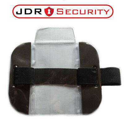 HIGH QUALITY Hi Vis Black SIA ID Badge Holder - Security Event Warehouse Staff