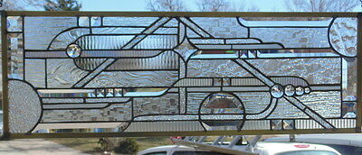 """Stained Glass Window Hanging 11 X 31 1/2"""""""