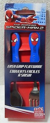 Marvel The Amazing Spider-Man 2 Easy Grip Flatware Spoon & Fork Utensils New