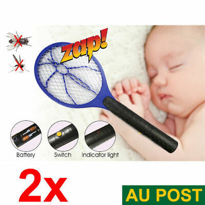 2x Electronic Fly Mosquito Bug Kill Swatter Zapper Racket Random Color