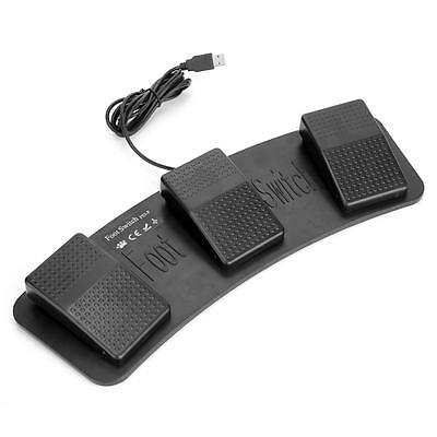 FS3-P USB 3 Triple Foot Switch Pedal Control Keyboard Mouse PC Computer Game CD