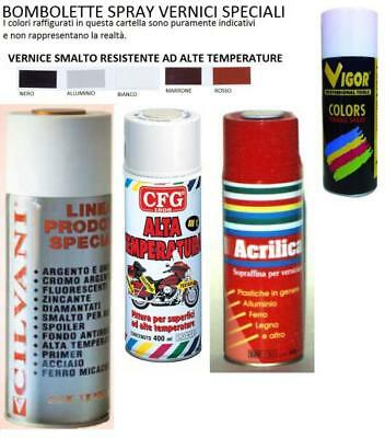 Vernice Spray Smalto Alta Temperatura 600 °C Stufe Camini Parti Auto Moto Ml 400