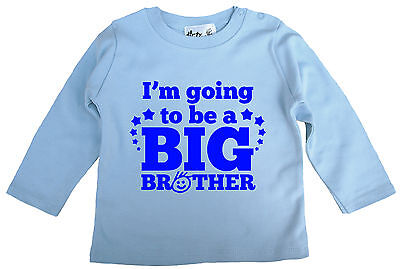 Dirty Fingers Baby Boy Long Sleeve Top Tee T-Shirt I'm going to be a Big Brother